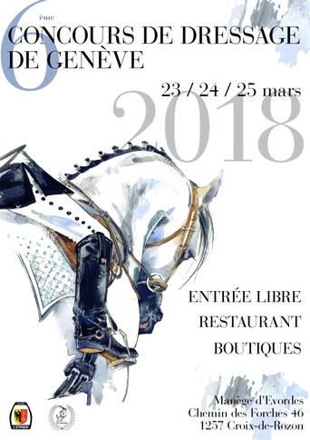 Affiche concours de dressage
